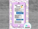 Cell Phone Birthday Invitations Cell Phone Emoji Tween Teen Birthday Invitation Cellphone