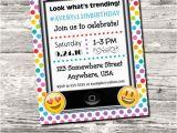 Cell Phone Birthday Invitations Emoji Cell Phone Trending Birthday Party Invitation