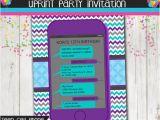 Cell Phone Birthday Invitations Teen Birthday Party Invitation Cell Phone Texting
