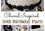 Chanel Birthday Decorations Chanel Inspired 30th Birthday Party