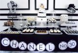 Chanel Birthday Decorations Oh Sugar events Chanel Birthday Party