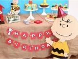 Charlie Brown Birthday Party Decorations Kara 39 S Party Ideas Peanuts Charlie Brown Birthday Party