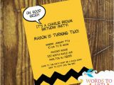 Charlie Brown Birthday Party Invitations Custom Charlie Brown themed Birthday Party Invitations