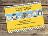 Charlie Brown Birthday Party Invitations Peanuts Charlie Brown Printable Invitation Downloadable