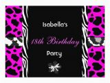 Cheap 18th Birthday Invitations 18th Teen Birthday Party Black White Pink Purple Zazzle
