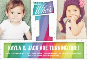 Cheap 1st Birthday Invitations Discount 1st Birthday Invitations for Twins Shutterfly