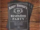 Cheap 40th Birthday Invitations 40th Birthday Invitation for Men by thepaperwingcreation