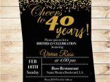 Cheap 40th Birthday Invitations Cheers to 40 Years Birthday Printable Invitation 40th