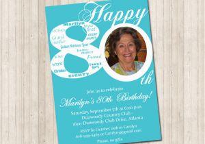 Cheap 80th Birthday Invitations Invites Best Design 80