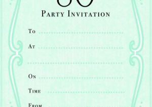 Cheap 80th Birthday Invitations Green Party Invitation Jpg 585 873 80