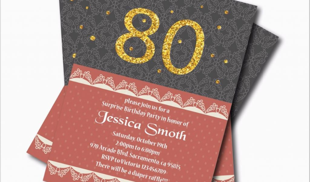 Cheap 80th Birthday Invitations Online Buy Wholesale 60th