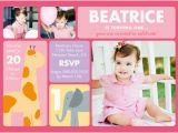 Cheap Custom Birthday Invitations 1st Birthday Invites with Giraffe and Elephant Omg Photos