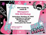 Cheap Custom Birthday Invitations Rock Star Girl Personalized Invitation Each Discount