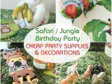 Cheap First Birthday Decorations Safari Jungle themed First Birthday Party Cheap Party