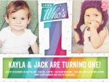 Cheap First Birthday Invitations Discount 1st Birthday Invitations for Twins Shutterfly
