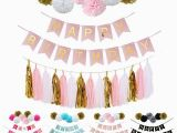 Cheap Happy Birthday Banners Cheap Pink Happy Birthday Banner White Tissue Paper Tassel