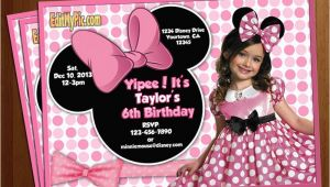 Cheap Minnie Mouse Birthday Invitations Stunning Minnie Mouse Birthday Invitations Templates Looks