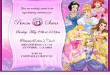 Cheap Princess Birthday Invitations Birthday Invitation Disney Princesses Birthday