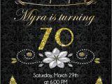 Cheap Surprise Birthday Invitations 70th Birthday Invitation Gold Glitter Birthday Party