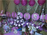 Cheetah Print Birthday Decorations Birthday Party Cheetah Print Pink and Gold Candy Buffet