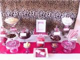 Cheetah Print Birthday Decorations Brown Pink Cheetah Print Birthday Party Ideas Cheetah