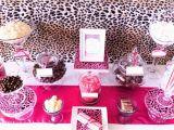 Cheetah Print Birthday Decorations Brown Pink Cheetah Print Birthday Party Ideas Photo 1