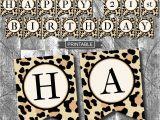 Cheetah Print Birthday Decorations Leopard Print Cheetah Print Birthday Party Decoration Banner