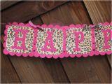 Cheetah Print Birthday Decorations Pink Leopard Animal Print Birthday Banner Leopard Party