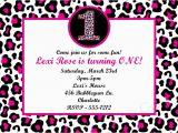 Cheetah Print Birthday Invitation Templates Leopard Party Invitations
