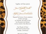 Cheetah Print Birthday Invitation Templates Leopard Print Wedding Invitation Wedding Invitation