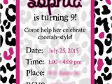 Cheetah Print Birthday Invitation Templates Super Simple Cheetah Birthday Party Ideas Overstuffed