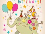 Child Birthday Cards Designs Happy Birthday Kids Greeting Card Stock Vector
