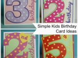 Child Birthday Cards Designs Project Simple Kids Age Cards