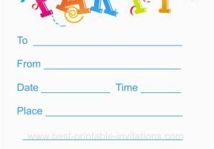 Child Birthday Invitations Free Printable Kids Birthday Party Invitation Kids Party Invites Free