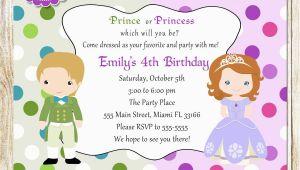 Children S Birthday Invitation Template Childrens Birthday Party Invites toddler Birthday Party