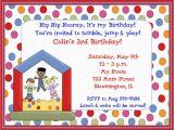 Childrens Birthday Party Invites Childrens Birthday Party Invites toddler Birthday Party