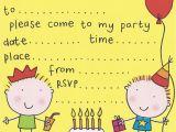 Childrens Birthday Party Invites Free Birthday Party Invites for Kids Bagvania Free
