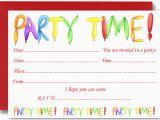 Childrens Birthday Party Invites Kids Birthday Party Invitation Cards Card Design Ideas