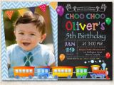 Choo Choo Train Birthday Invitations Choo Choo Train Birthday Invitation Boy Train Birthday Party