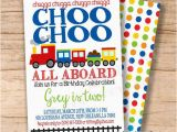 Choo Choo Train Birthday Invitations Choo Choo Train Birthday Invitation Boys by Sweetprovidence