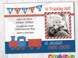 Choo Choo Train Birthday Invitations Train Birthday Invitation Boy Birthday Choo Choo Party