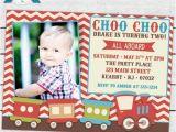 Choo Choo Train Birthday Invitations Vintage Choo Choo Train Birthday Party Photo Invitation