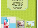 Christian Boxed Birthday Cards Birthday Value assortment Box Of 24 Christian Birthday