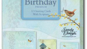 Christian Boxed Birthday Cards Sandy Clough Nesting Box Of 12 assorted Christian