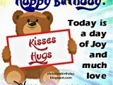Christian Children S Birthday Cards Happy Birthday with Kisses and Hugs Christian Birthday