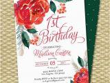 Christmas 1st Birthday Invitations Christmas 1st Birthday Invitation Holiday 1st Birthday