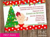 Christmas 1st Birthday Invitations First Birthday Christmas Party Invitation 1 00 Each with