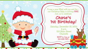 Christmas 1st Birthday Invitations First Birthday Christmas Party Invitation Christmas