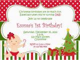 Christmas 1st Birthday Invitations Items Similar to First Birthday Christmas Party Invitation