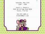 Chuck E Cheese Birthday Invitation Template Chuck E Cheese Birthday Invitation